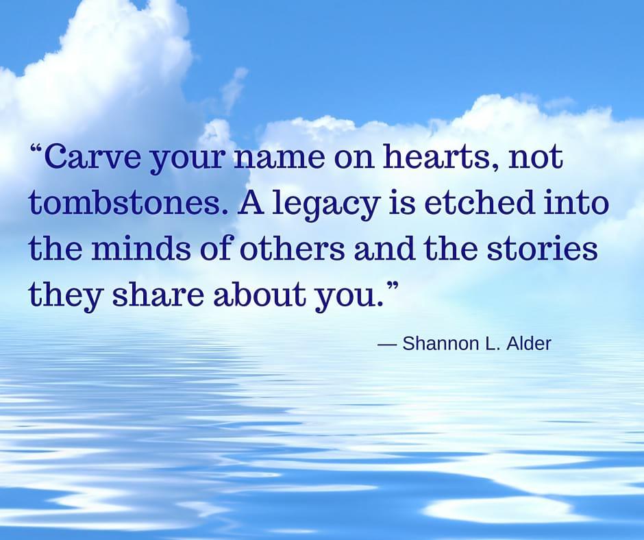 "Having a Heartfelt ""Ethical Will"" or ""Legacy letter"""