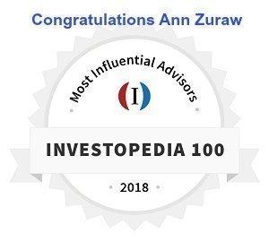 Congratulations Ann Zuraw Investopedia's Top 100 Most Influential Advisors 2018