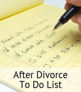 After Divorce To Do List