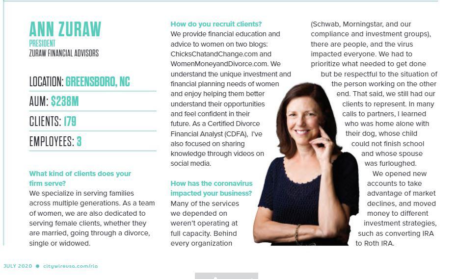 Ann Zuraw CityWire Magazine